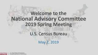 05/02/19 National Advisory Committee (NAC) Spring Meeting (Day 1)