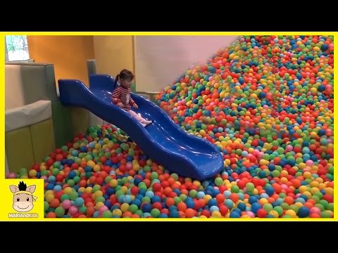 Thumbnail: Indoor Playground Fun for Kids and Family Play Slide Rainbow Colors Balls | MariAndKids Toys