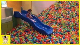 Indoor Playground Fun for Kids and Family Play Slide Rainbow Colors Balls | MariAndKids Toys