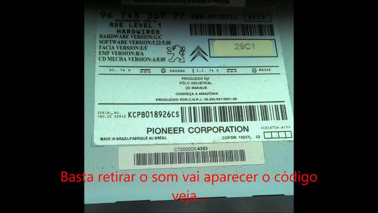 Desbloqueando Som Peugeot 207 E Outros