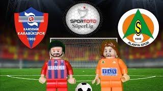 Kardemir Karabükspor 1-0 Alanyaspor 03.02.2018 (LEGO SÜPER LİG MAÇ ÖZETLERİ)/ Lego Football