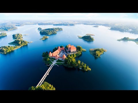 Trakai Castle in Lithuania early morning
