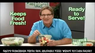 GB279-Gizmobaba Fresh Seal Reusable Food Wraps Kitchen Gadget Set of 4.