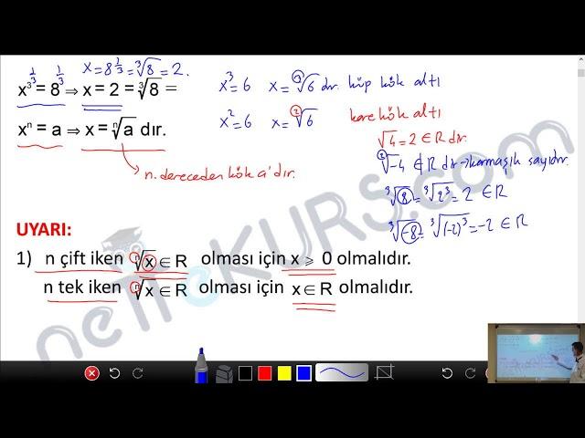 YÖS Matematik - Köklü İfadeler - 1 / nettekurs.com - Online YÖS Dershanesi