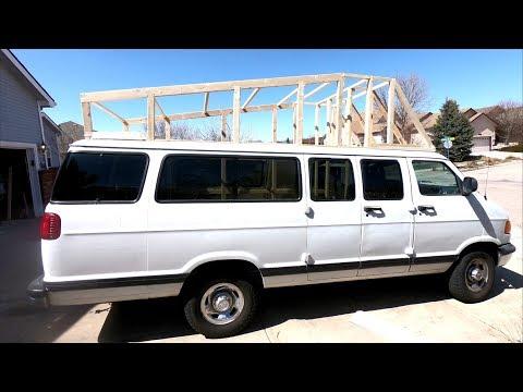 How to Build a DIY wood Hightop on a Van - Hightop Campervan Part 1/2