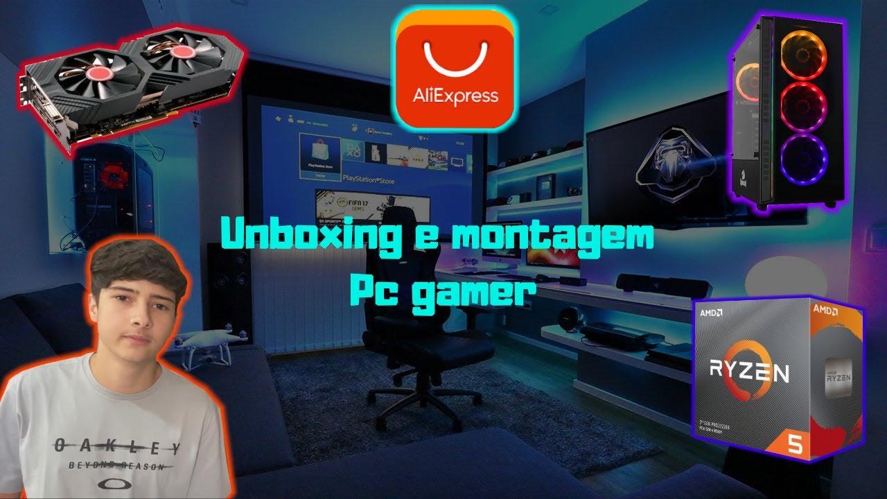 UNBOXING PLACA DE VÍDEO E PROCESSADOR DO ALIEXPRESS + MONTAGEM PC GAMER