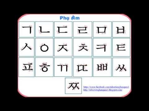Phụ Âm Tiếng Hàn Quốc - luyện phát âm