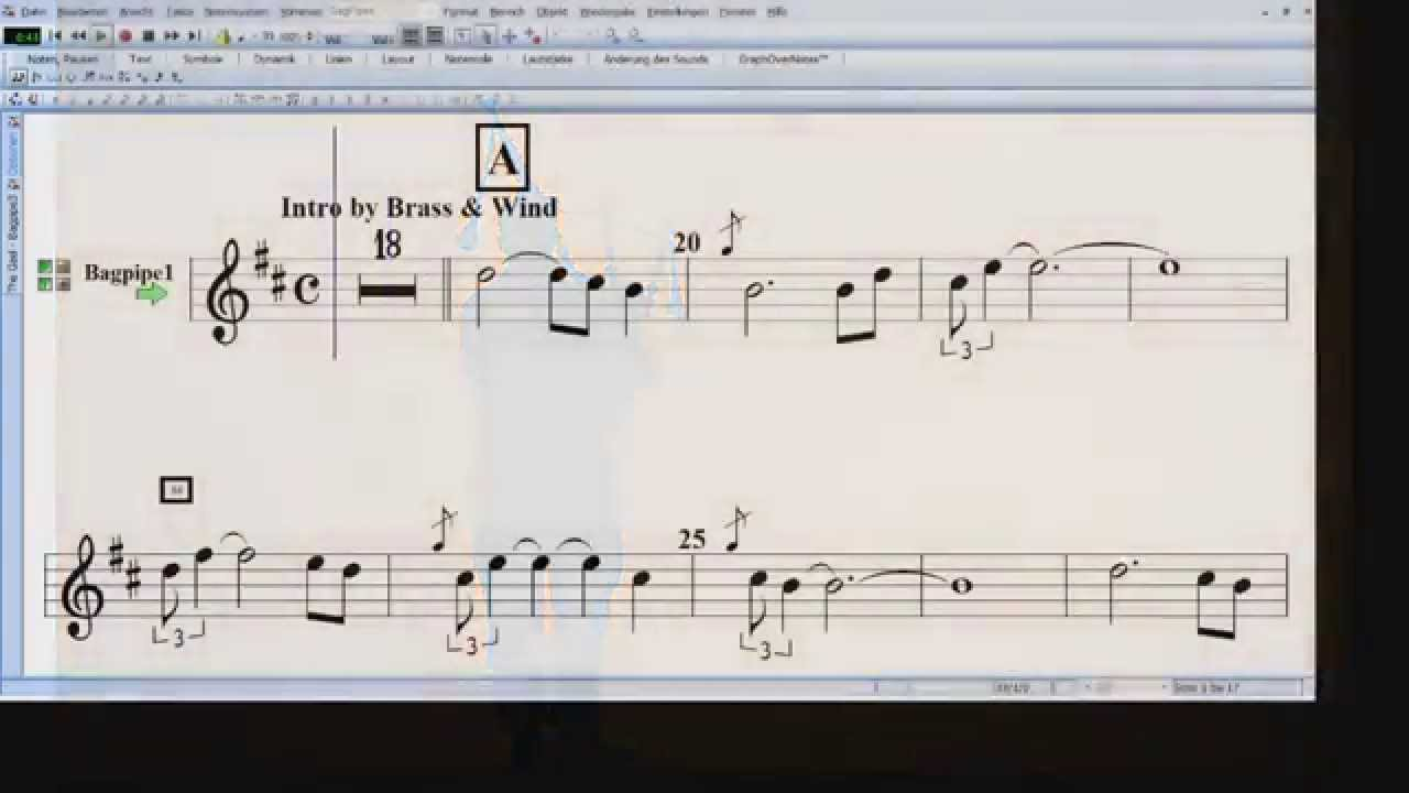 The Gael - Arranged for Bagpipe & Brass/Wind Band with Score Display