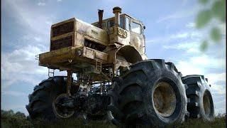 монстр бездорожья легендарный трактор кировец к 700 к 701 по бездорожью
