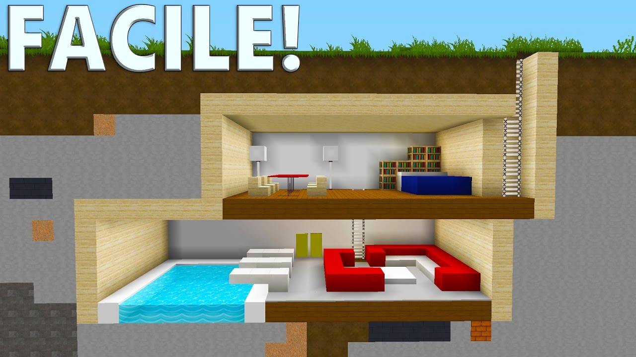 Tuto bunker ultra s curis 2 tages minecraft youtube for Minecraft tuto construction