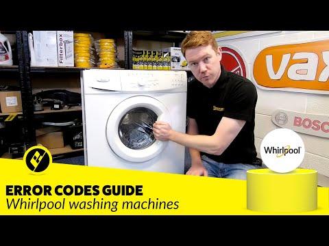 Whirlpool Washing Machine Error Codes Diagnosis