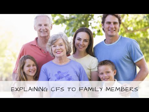 M.E/CFS Explanation for family members
