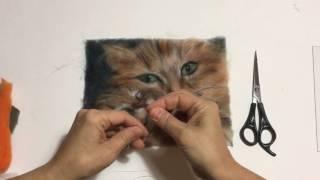 Картины из шерсти. Видеоурок Марины Аскеровой. Завершение работы.