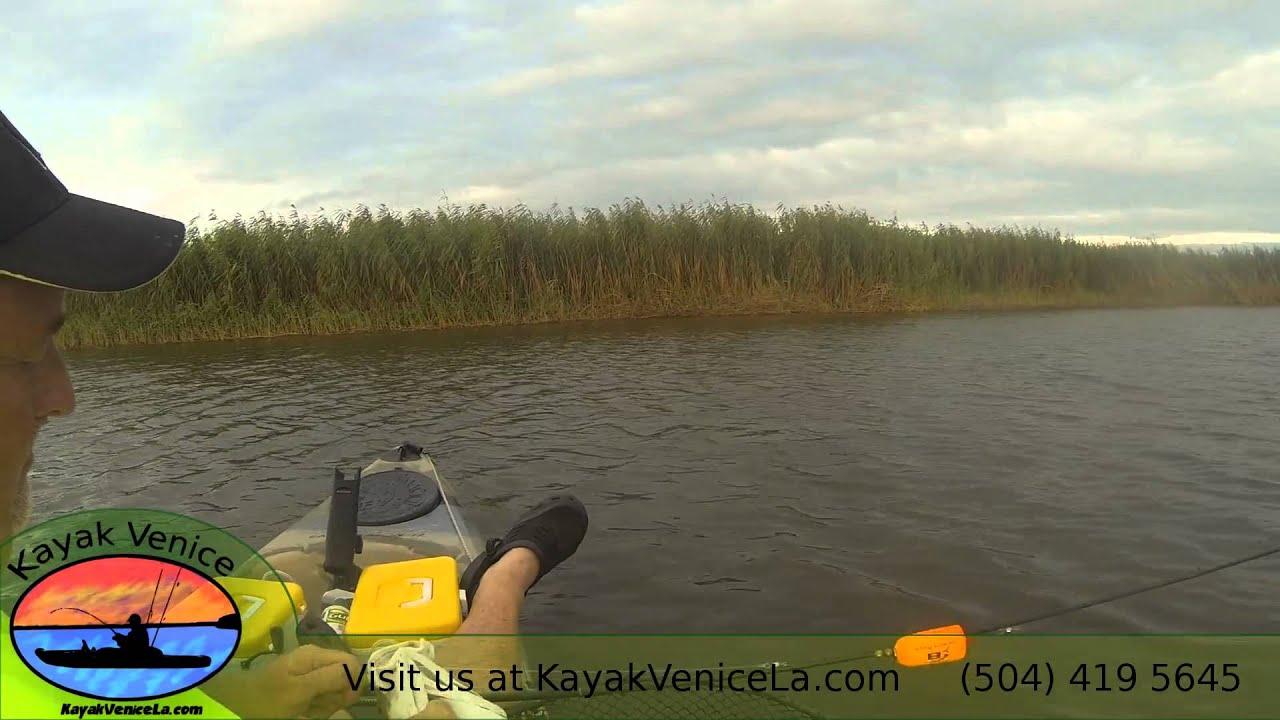 Kayak fishing in venice october evening youtube for Kayak fishing louisiana