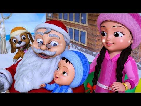 கிறிஸ்துமஸ் வரும் நேரம் சாண்டா வரும் நேரம் | Tamil Rhymes for Children | Infobells