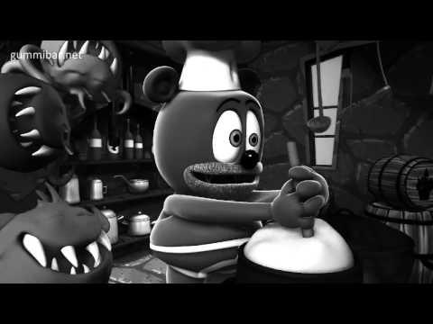 BLACK AND WHITE Monster Movie Gummibär Monster Mash Song