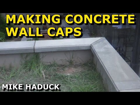 How I Make Concrete Wall Caps Mike Haduck Youtube