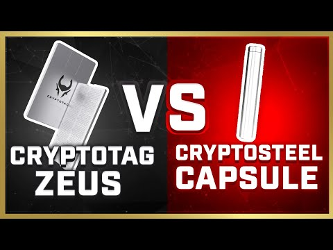 [NEW] CRYPTOTAG ZEUS vs. CryptoSteel Capsule (2020)   Which Crypto Backup Is More Secure?