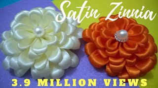 D.I.Y. Satin Zinnia Flower - Tutorial