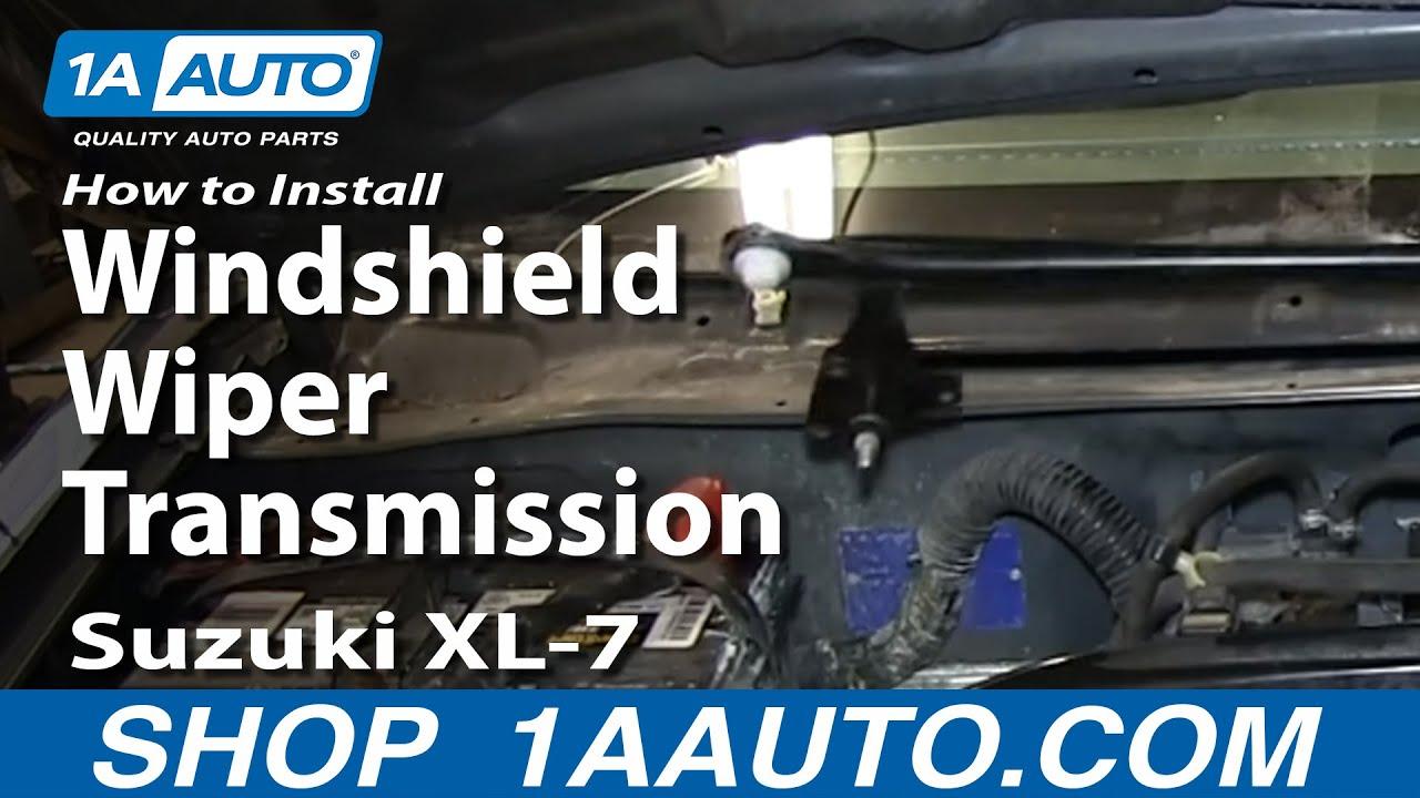 medium resolution of how to install replace fix windshield wiper transmission linkage suzuki xl 7
