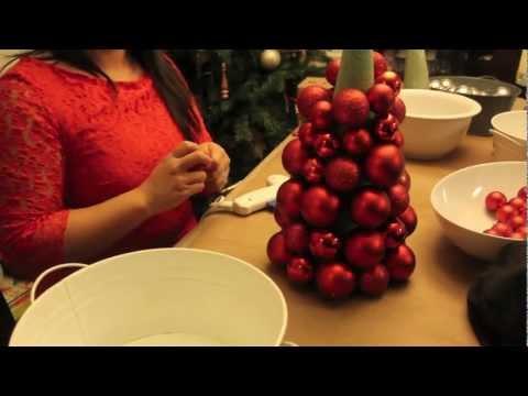 How To Make a Christmas Ornament Ball Tree