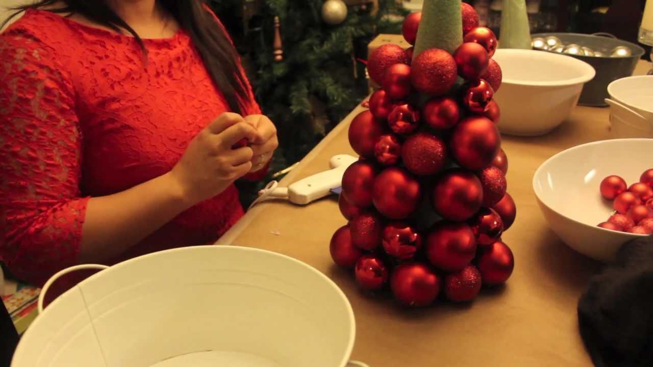 Diy Christmas Ornament Ball Tree