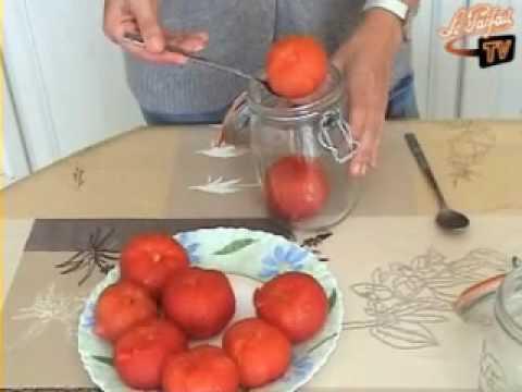 recette tomates enti res au naturel youtube. Black Bedroom Furniture Sets. Home Design Ideas