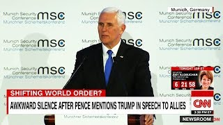 LOL: Awkward Silence When Pence Mentions Trump