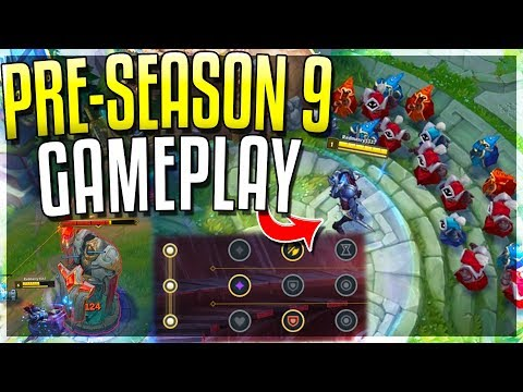 NEW PRE-SEASON 9 GAMEPLAY!! New META Is HERE - League of Leg