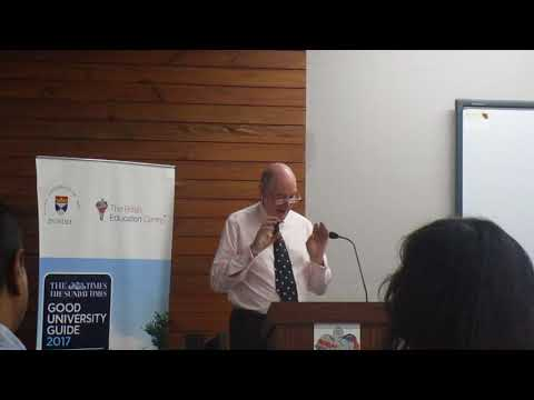 Lecture by Miles Young from New College University of Oxford at the British Education Centre
