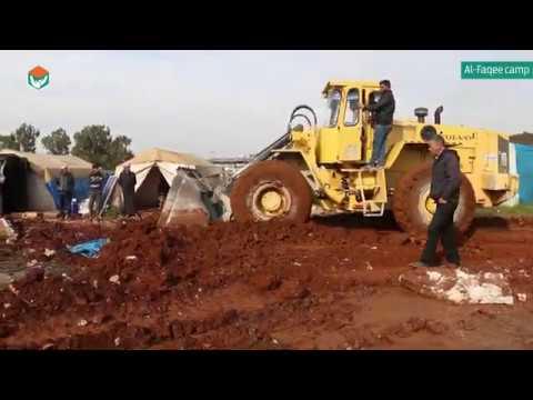 ملخص اعمال مشروع تحسين البنى التحتية لمخيمات النزوح المؤقتة في منطقة حارم