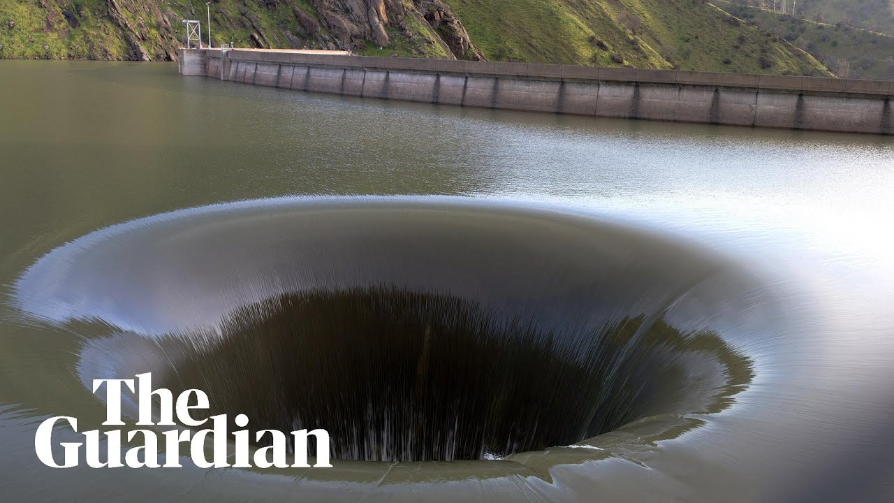 medium resolution of giant glory hole sucks in rainwater as storms swell california lake us news the guardian