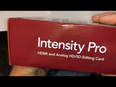 Blackmagic Design Intensity Pro Hdmi Analog Editing Card Pci Express Bintspro 06 2018 Youtube
