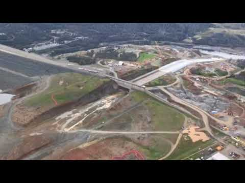 Oroville Dam flyover: 360 view