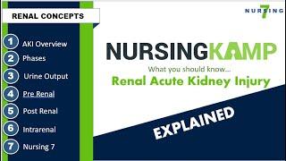 AKI an Overview Nursing KAMP Pre Renal Post Renal Intrarenal Course 2020