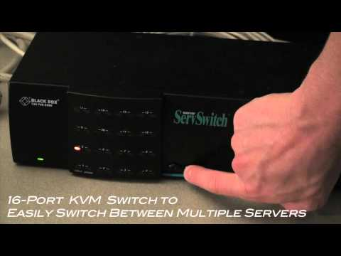 Black Box ServSwitch 16-Port KVM Switch