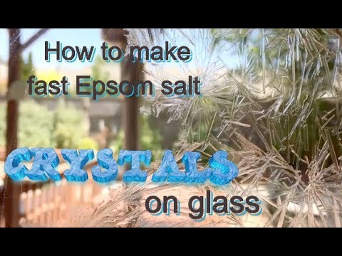 How To Make Fast Epsom Salt Crystals On Glass Experiment (How To Grow Crystals /magnesium Sulfate )