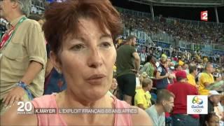Christophe LEMAITRE en bronze et Kevin MAYER en argent aux JO 2016 de RIO