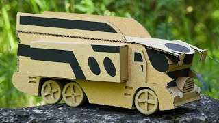 How to Make RC Toy Bus  from  Cardboard