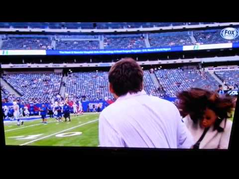 Pam Oliver Hit By Football By Colts Backup QB Chandler Harnish Before Preseason Game