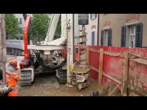 KLEMM KR 807-7F on jobsite - YouTube