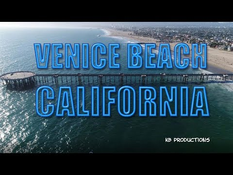 Venice Beach California Drone Video 4k