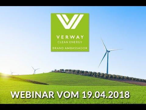 Verway Clean Energy Webinar vom 19.04.2018