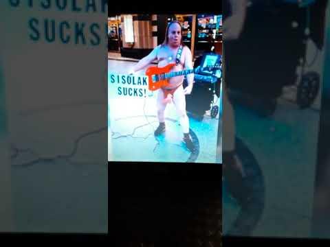 Sisolak Sucks! Rock Out My Cock Out Public Service Announcement on Fremont Street Las Vegas!