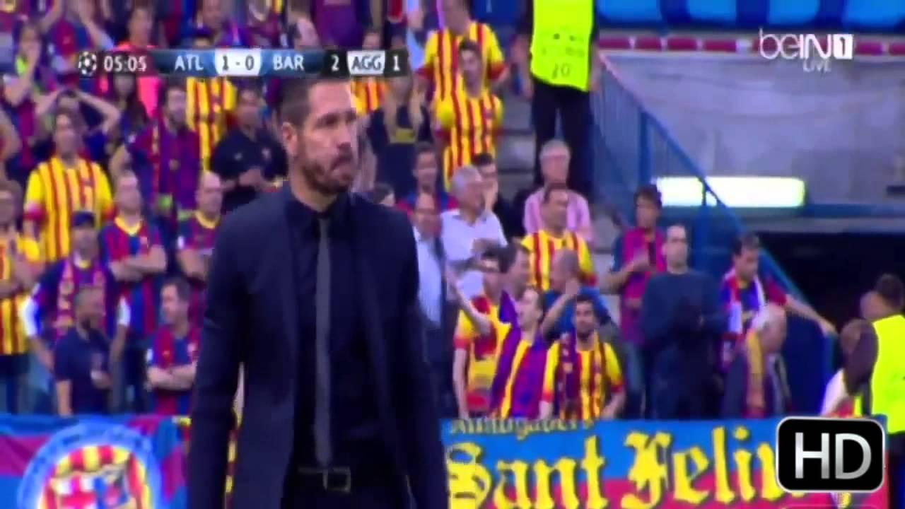 Atletico De Madrid Vs Barcelona 1 0 Cuarto De Final Champions League 2014 Youtube