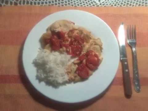 Pechuga de pollo al tomate con arroz blanco youtube - Arroz en blanco con pollo ...
