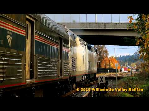 Railfanning at Salem Station, Oregon: Amtrak Starlights, a Local and the QPDRV