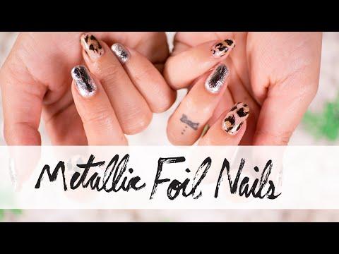 Leopard and Silver Metallic Nail Art Foils