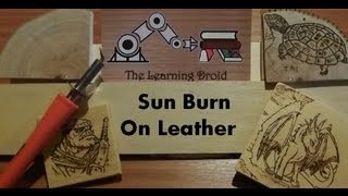 Pyrography Project - Leather - Sun Pattern Burn