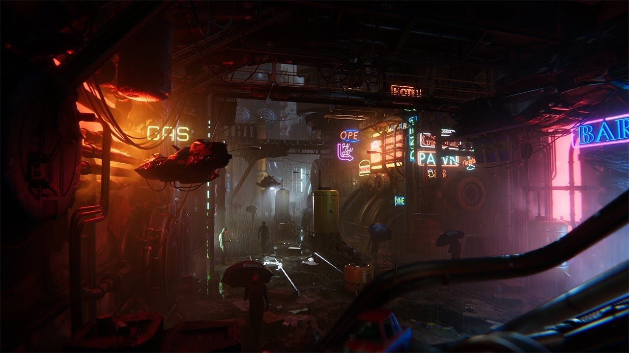 Neon - Unity environment demo using only Asset Store models